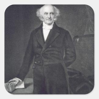 Martin Van Buren, 8vo presidente del Stat unido Calcomania Cuadradas Personalizadas