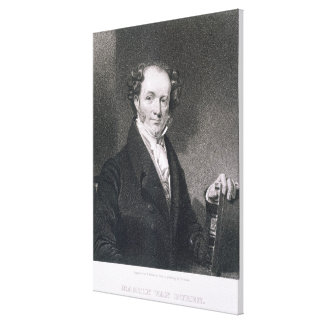 Martin Van Buren, engraved by E. Wellmore (engravi Canvas Print