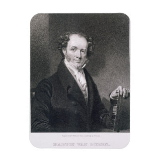 Martin Van Buren, engraved by E. Wellmore (engravi Rectangular Photo Magnet