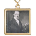 Martin Van Buren, grabado por E. Wellmore (engravi Colgante Cuadrado