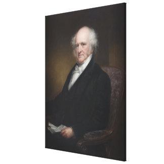 MARTIN VAN BUREN Portrait By Daniel Huntington Canvas Print