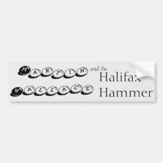 Martin Wallace and the Halifax Hammer Bumper Sticker