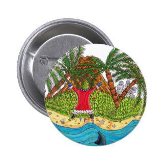 Martin y el paraíso de la isla desierta pin redondo de 2 pulgadas