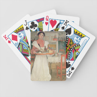 Martina Carrying Breakfast on a Tray, 1904 Bicycle Playing Cards