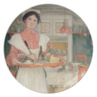 Martina Carrying Breakfast on a Tray, 1904 Dinner Plate
