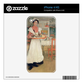Martina Carrying Breakfast on a Tray, 1904 Skins For The iPhone 4