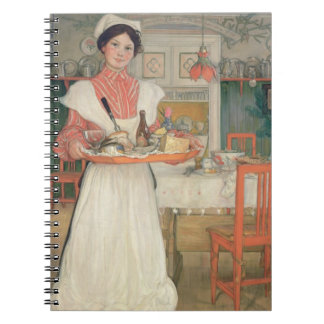 Martina Carrying Breakfast on a Tray, 1904 Spiral Notebook