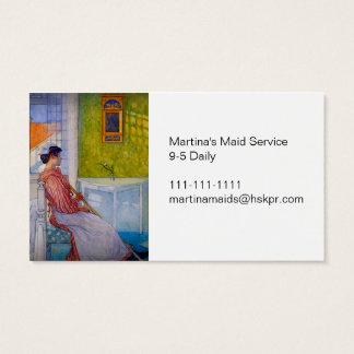 Martina la criada en el tiempo de la rotura tarjetas de visita