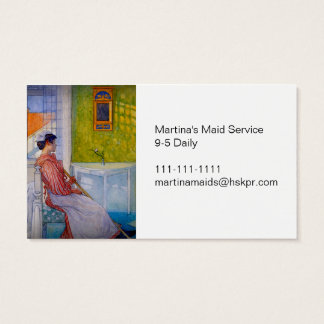 Martina the Maid at Break Time Business Card