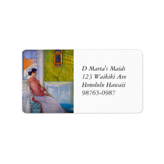 Martina the Maid Resting Label