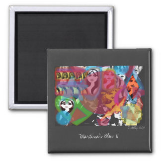 Martina's Glow II Magnet. 2 Inch Square Magnet