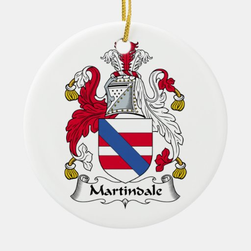 Martindale Family Crest Double-Sided Ceramic Round Christmas Ornament