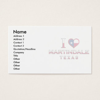 Martindale, Texas Business Card