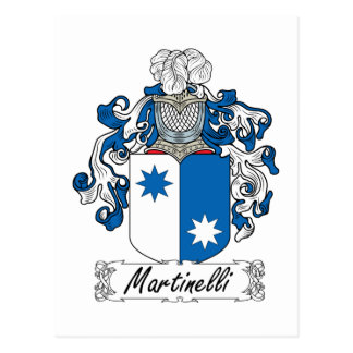 Martinelli Family Crest Postcard