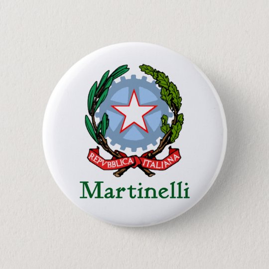 Martinelli Republic of Italy Pinback Button