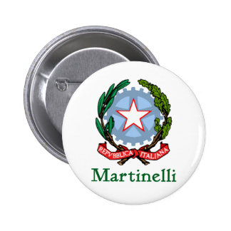 Martinelli Republic of Italy Pinback Buttons