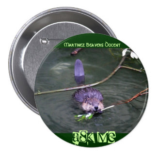 Martinez Beavers Docent,... - Customized 3 Inch Round Button