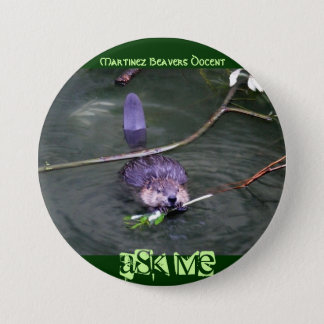 Martinez Beavers Docent,... - Customized Pinback Button