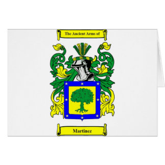 Martinez Coat of Arms Card