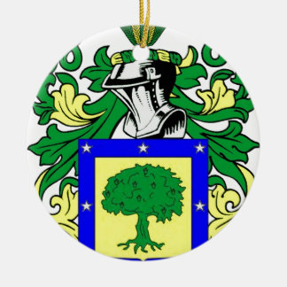 Martinez Coat of Arms Ceramic Ornament