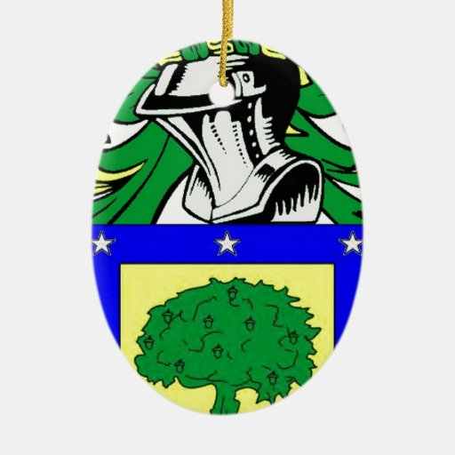 Martinez Coat of Arms Christmas Ornaments