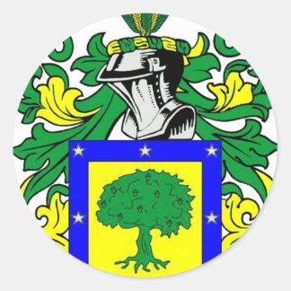 Martinez Coat of Arms Classic Round Sticker