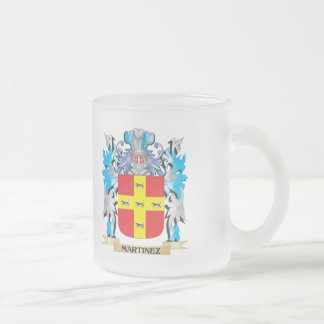 Martinez Coat of Arms - Family Crest 10 Oz Frosted Glass Coffee Mug