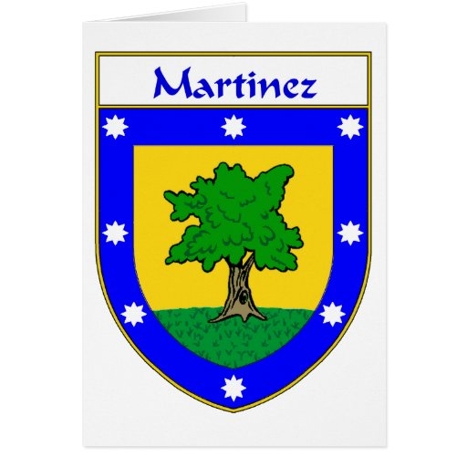Martinez Coat of Arms/Family Crest Card