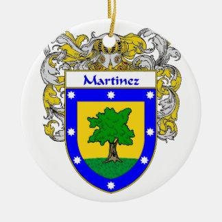 Martinez Coat of Arms/Family Crest Ceramic Ornament