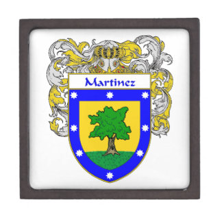 Martinez Coat of Arms/Family Crest Gift Box