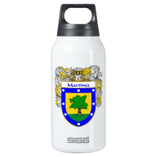 Martinez Coat of Arms/Family Crest Insulated Water Bottle