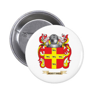 Martinez Coat of Arms (Family Crest) Pinback Button