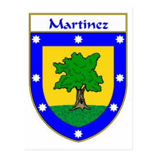 Martinez Coat of Arms/Family Crest Postcard