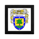Martinez Coat of Arms/Family Crest Trinket Boxes