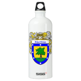 Martinez Coat of Arms/Family Crest Water Bottle