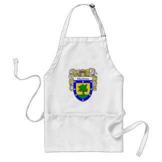 Martinez Coat of Arms (Mantled) Adult Apron