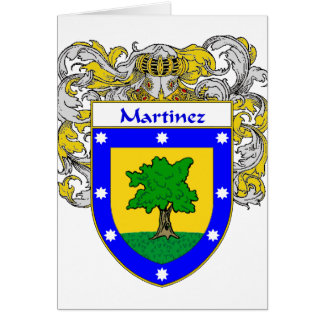 Martinez Coat of Arms (Mantled) Card