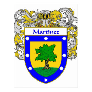 Martinez Coat of Arms (Mantled) Postcard