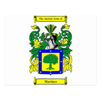 Martinez Coat of Arms Postcard