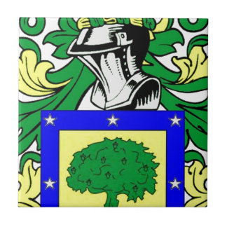 Martinez Coat of Arms Small Square Tile