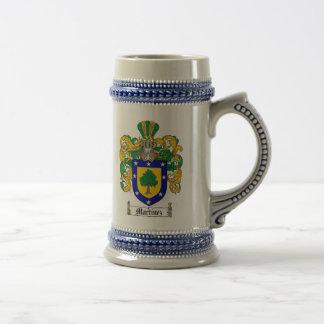 Martinez Coat of Arms Stein / Martinez Crest Stein 18 Oz Beer Stein