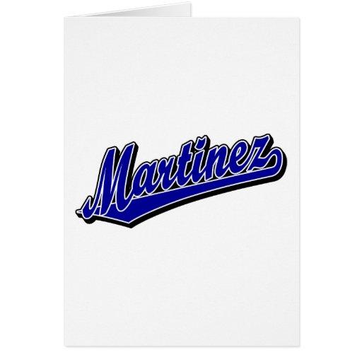 Martínez en azul tarjeta de felicitación