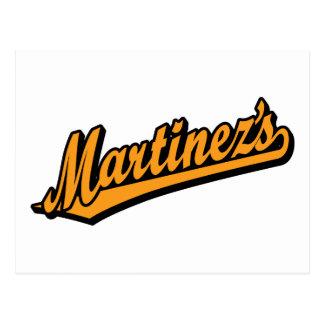 Martínez en naranja tarjeta postal