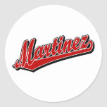 Martínez en rojo etiqueta redonda