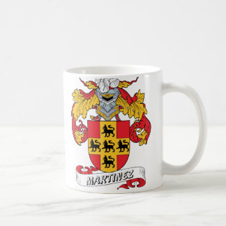 Martinez Family Crest Classic White Coffee Mug