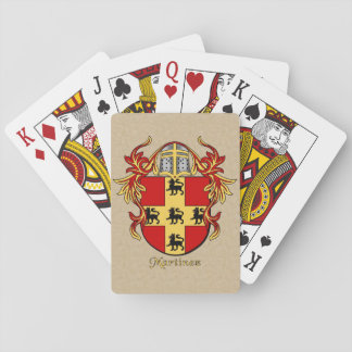 Martinez Heraldic Shield with Mantling Deck Of Cards