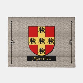 Martinez Historical Shield on Cobblestone Doormat