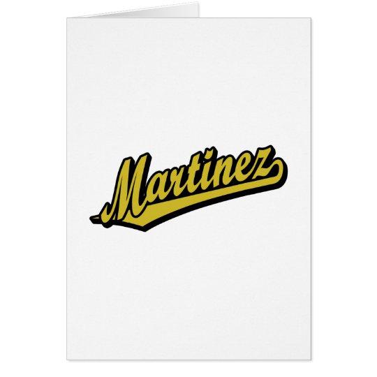 Martinez in Gold Card