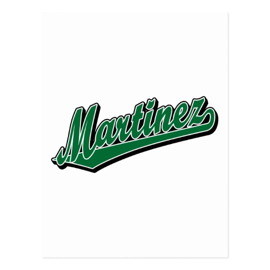 Martinez in Green Postcard