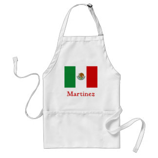 Martinez Mexican Flag Adult Apron